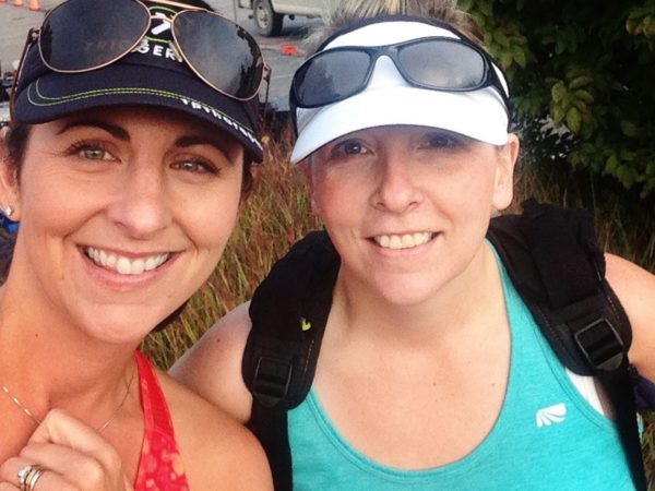 Lisa Payne Kirker (left) with her BRF (best running friend) Amy. Lisa has been following a heart rate training plan.