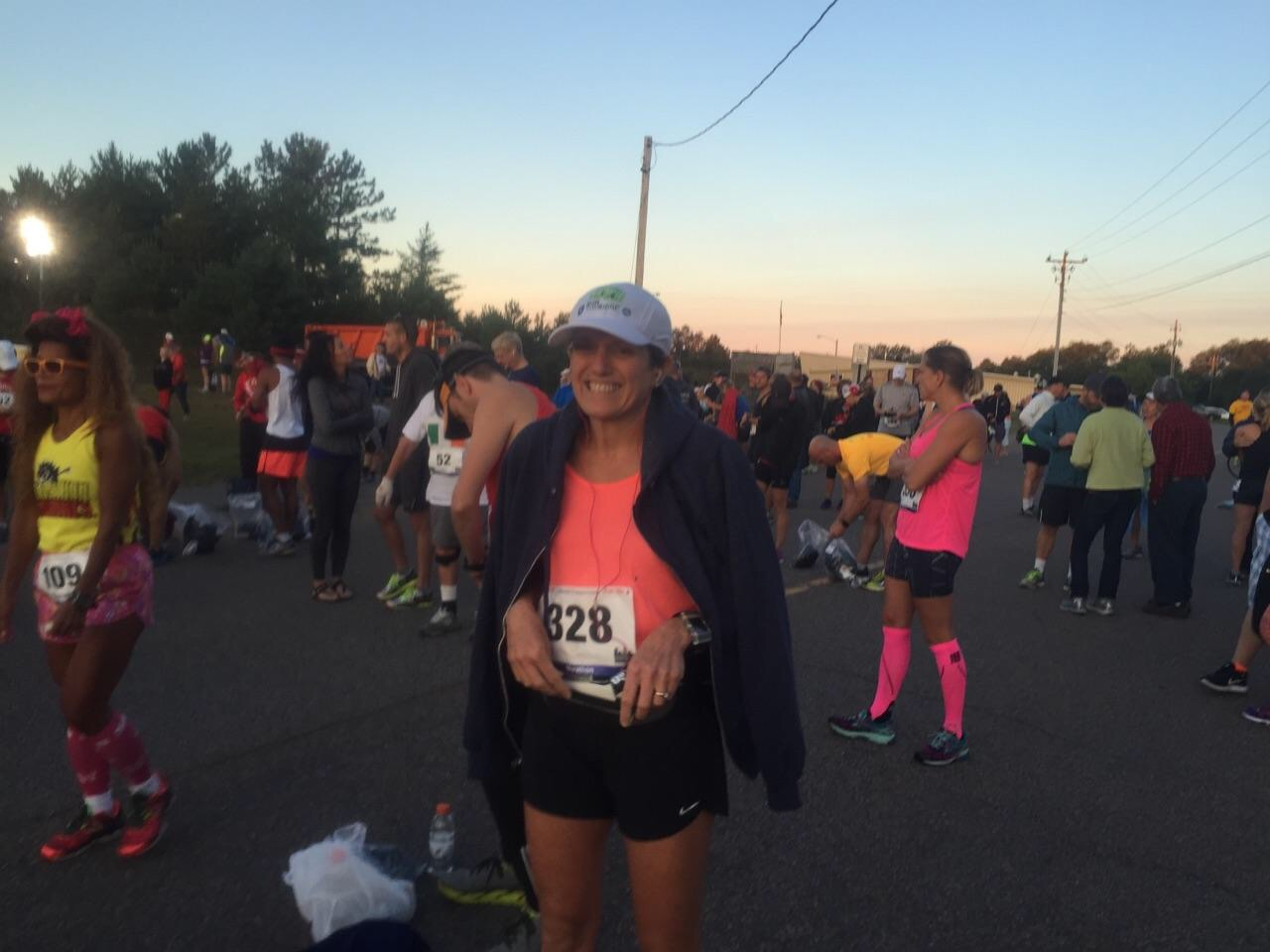 Pam finished her first marathon -- the Marquette Marathon -- earlier this month! /photo courtesy the Carrigan family.