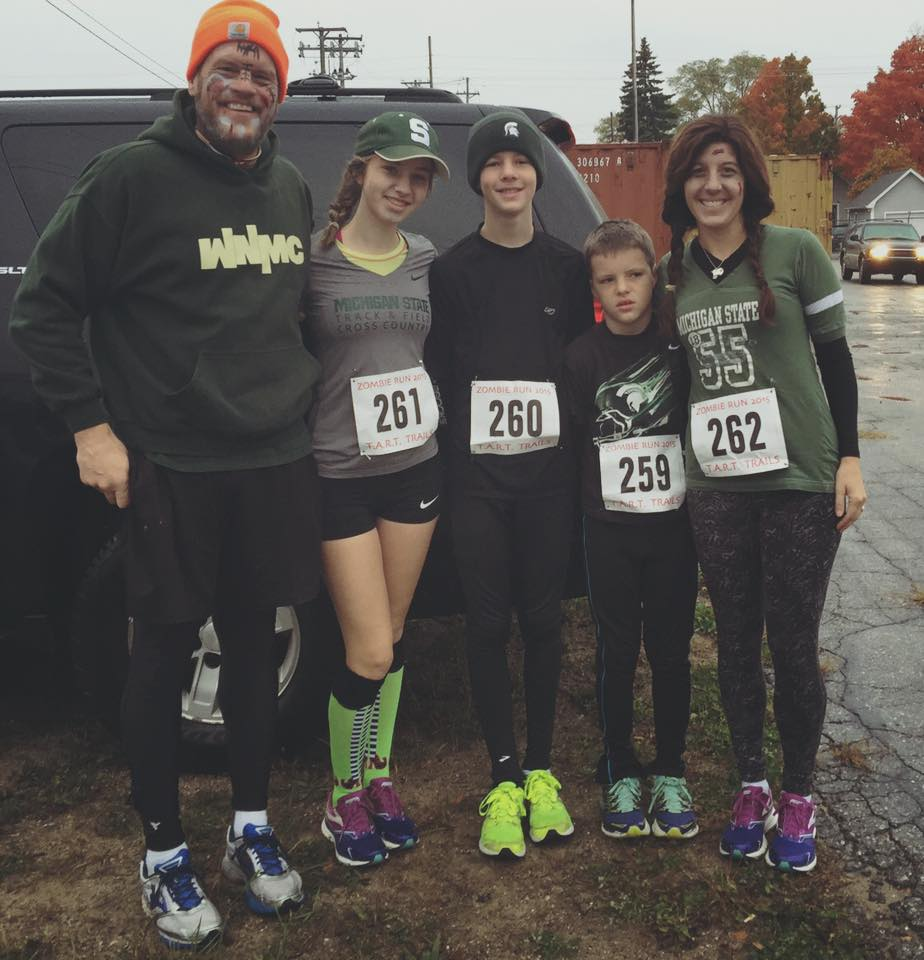 Our family at last fall's TC Zombie 5K Run/Walk. This year's event is set for Saturday, Oct. 29, 2016.