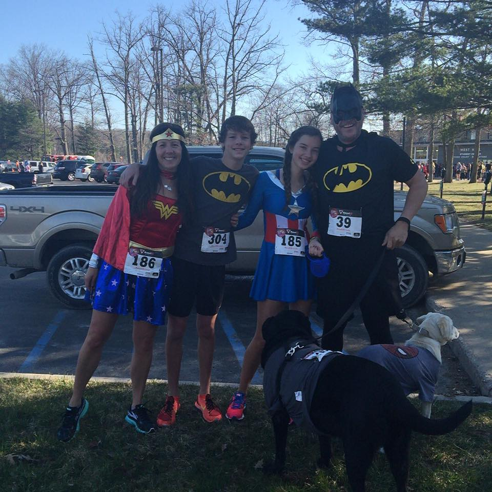 We dressed up for this spring's BIG Little Hero Race at Northwestern Michigan College.