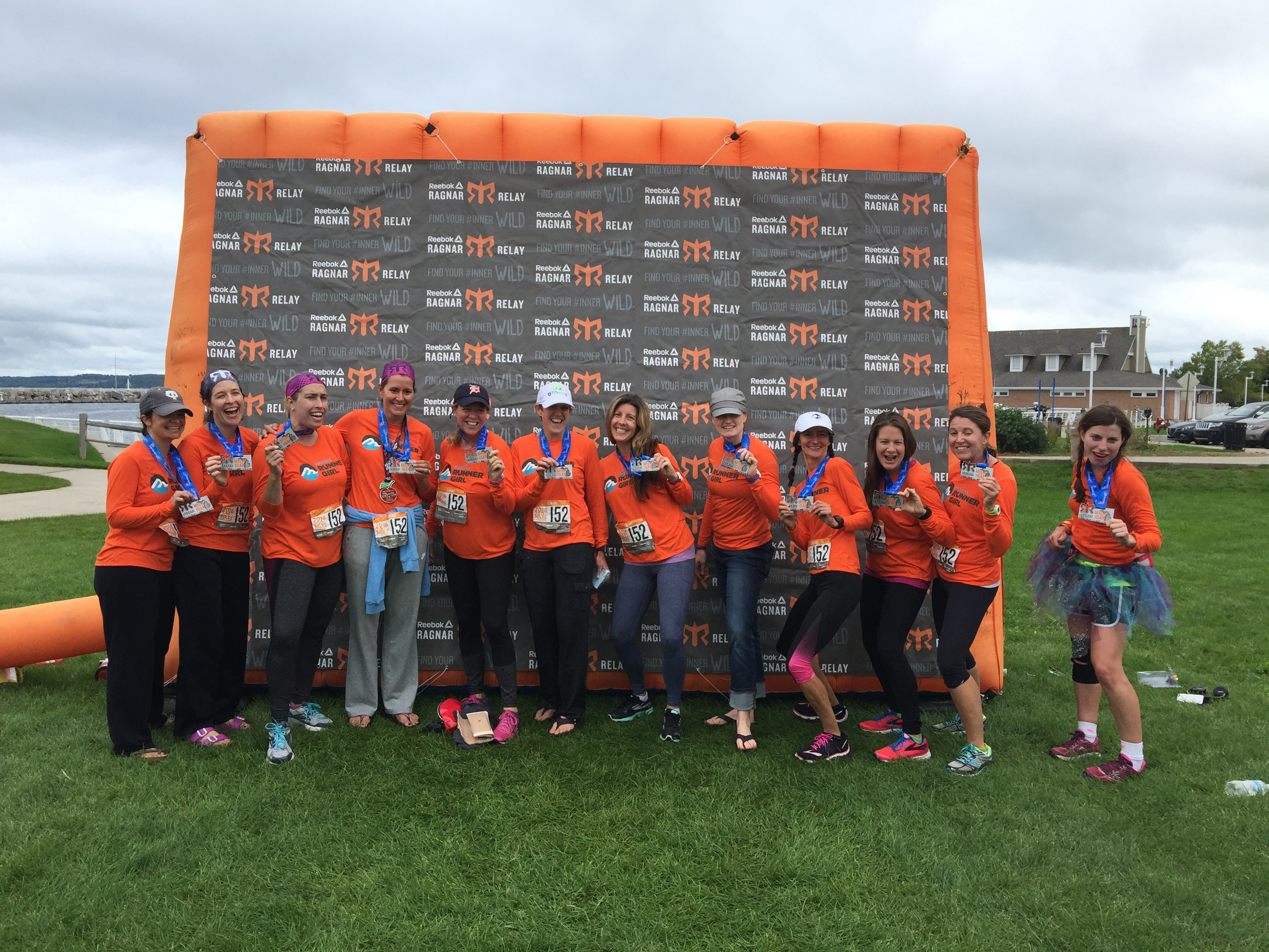 Team MRG at the inaugural Reebok Ragnar Michigan, Sept. 30-Oct. 1. The race started in Muskegon and finished in Traverse City.