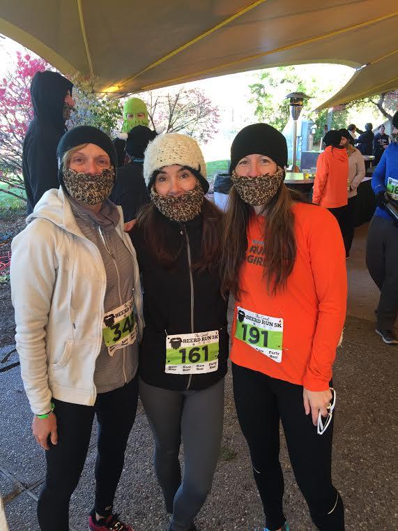Pam Carrigan, Jennifer Cutler and Heather Durocher pre-race.