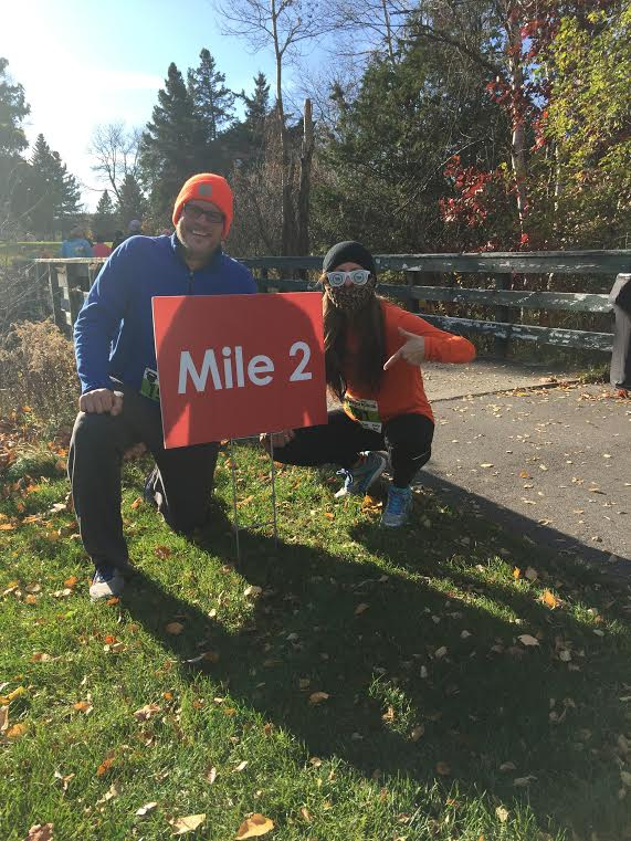 Joe and Heather at the Great Beerd Run - Mile 2!